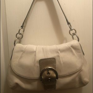 Coach Leather and Gold Shoulder Bag